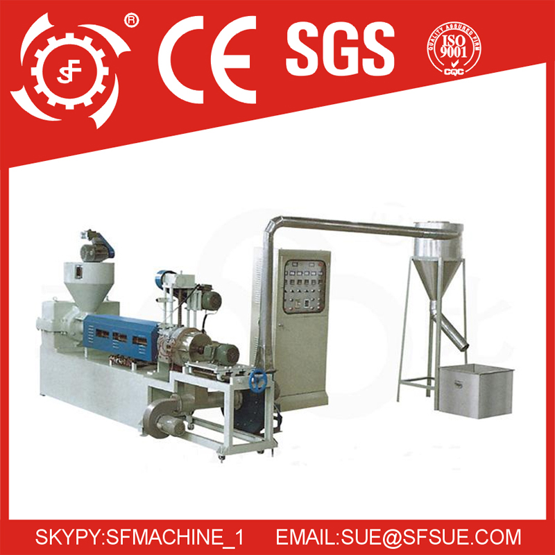 SJ-A wind-cooling hot-cutting plastic recycle machine